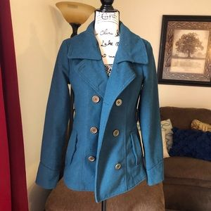 Dark Teal Pea Coat